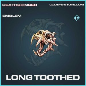 long toothed emblem rare call of duty modern warfare item