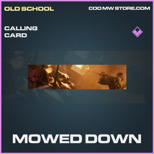 Mowed Down calling card epic call of duty modern warfare item
