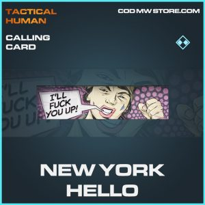 new york hello calling card rare call of duty modern warfare item
