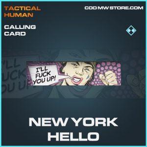 new york hello calling card rare call of duty modern warfare item