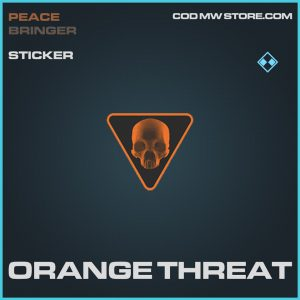 Orange threat rare sticker call of duty modern warfare item