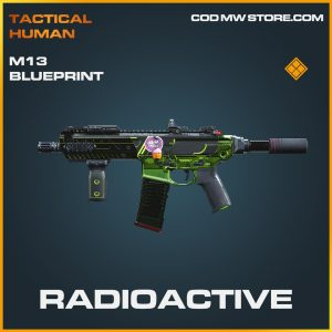 Radioactive M13 Skin legendary blueprint call of duty modern warfare item