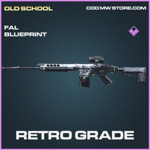 Retro Grade FAL skin blueprint epic call of duty modern warfare item
