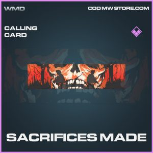 Sacrifices made calling card epic call of duty modern warfare item