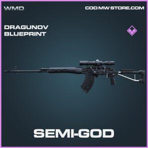 Semi-God dragunov skin epic blueprint call of duty modern warfare item