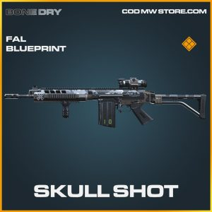 skull shot fal skin legendary blueprint call of duty modern warfare item