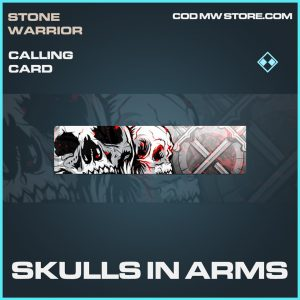 Skulls in arms rare calling card call of duty modern warfare item