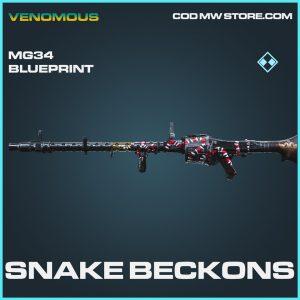 Snake Beckons MG34 Skin rare blueprint call of duty modern warfare item