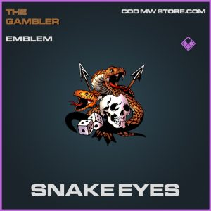 Snake eyes emblem epic call of duty modern warfare item