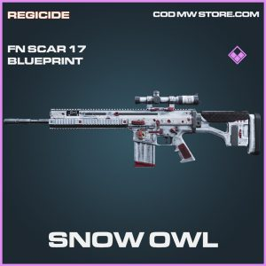 Snow Owl Fn Scar 17 skin epic blueprint call of duty modern warfare item