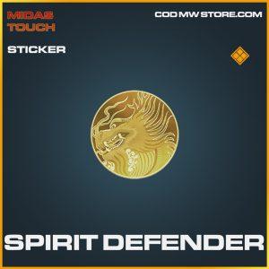 Spirit Defender legendary sticker call of duty modern warfare item