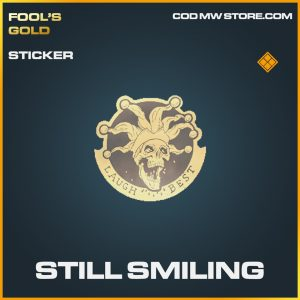 still smiling sticker legendary call of duty modern warfare item