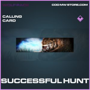 successful hunt epic calling card call of duty modern warfare item