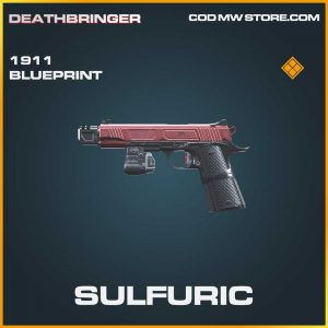 Sulfuric 1911 skin legendary blueprint call of duty modern warfare item