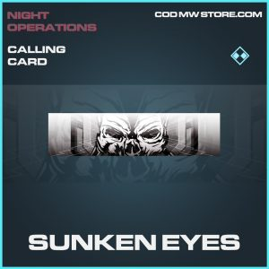 sunken eyes calling card rare call of duty modern warfare item