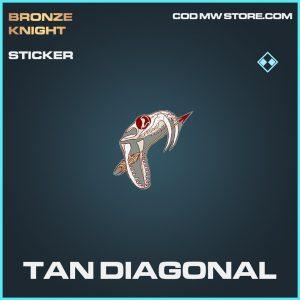 Tan Diagonal rare sticker call of duty modern warfare item