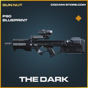 The Dark P90 skin legendary blueprint call of duty modern warfare item