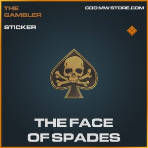 the face of spades sticker legendary call of duty modern warfare item