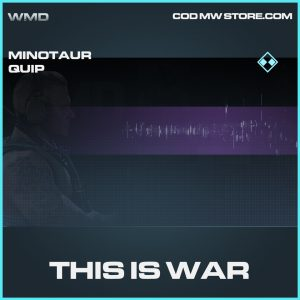 this is war rare minotaur quip call of duty modern warfare item