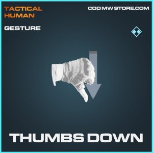Thumbs down gesture rare call of duty modern warfare item