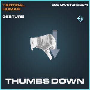 Thumbs down gesture rare call of duty modern warfare item