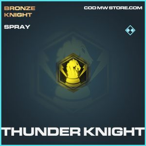 Thunder knight rare spray call of duty modern warfare item