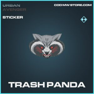 trash panda rare sticker call of duty modern warfare item