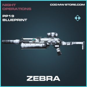 zebra PP19 Bizon skin rare blueprint call of duty modern warfare item