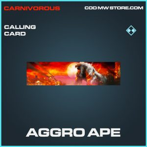 Aggro Ape calling card rare call of duty modern warfare item