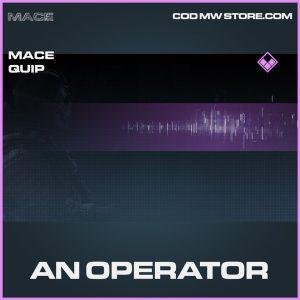 An Operator Mace oeprator quip epic call of duty modern warfare item