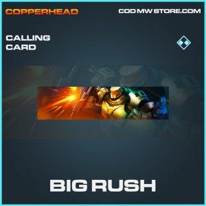 Big Rush calling card rare call of duty modern warfare item