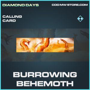 Burrowing Behemoth calling card rare call of duty modern warfare item