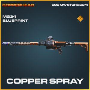 Copper Spray MG34 skin legendary blueprint call of duty modern warfare item