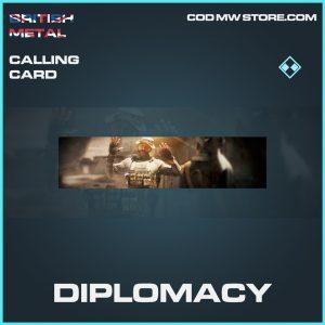 Diplomacy calling card rare call of duty modern warfare item