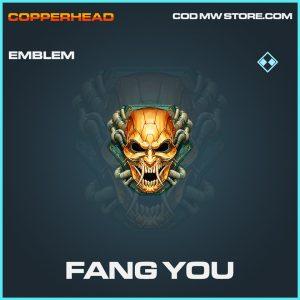 Fang you emblem rare call of duty modern warfare item