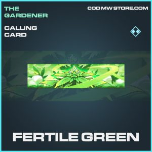 Fertile Green calling card rare call of duty modern warfare item