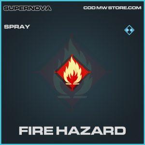 Fire hazard spray rare call of duty modern warfare item