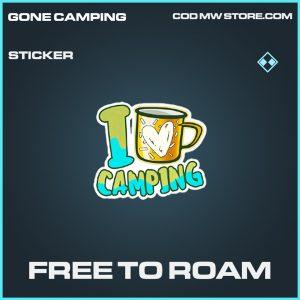Free to roam sticker rare call of duty modern warfare item
