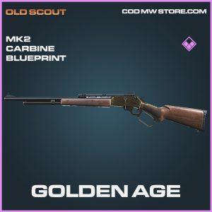Golden Age MK2 Carbine skin epic blueprint call of duty modern warfare item