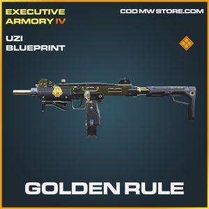 Golden Rule uzi skin legendary blueprint call of duty modern warfare item