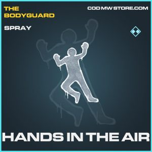 Hands in the air spray rare call of duty modern warfare item