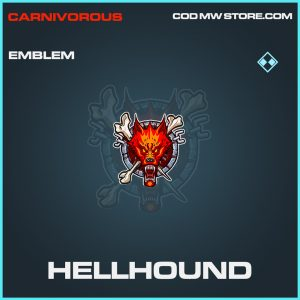Hellhound emblem rare call of duty modern warfare item