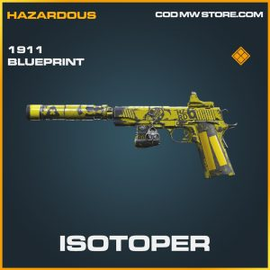 Isotoper 1911 skin legendary blueprint call of duty modern warfare item