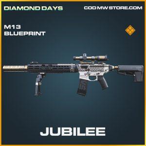 Jubilee M13 skin legendary blueprint call of duty modern warfare item