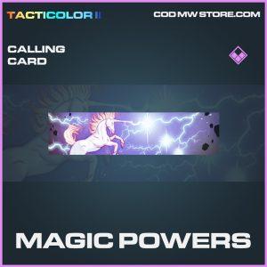 Magic powers calling card epic call of duty modern warfare item