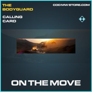 On the move calling card rare call of duty modern warfare item