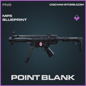 Point Blank MP5 skin blueprint epic call of duty modern warfare item