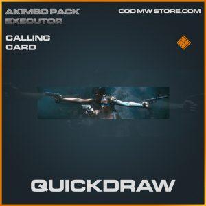 Quickdraw calling card legendary call of duty modern warfare item