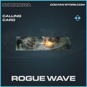 Rogue wave calling card rare call of duty modern warfare item