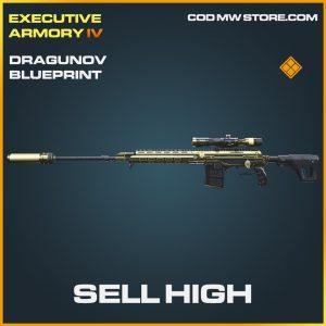Sell High dragunov skin legendary blueprint call of duty modern warfare item